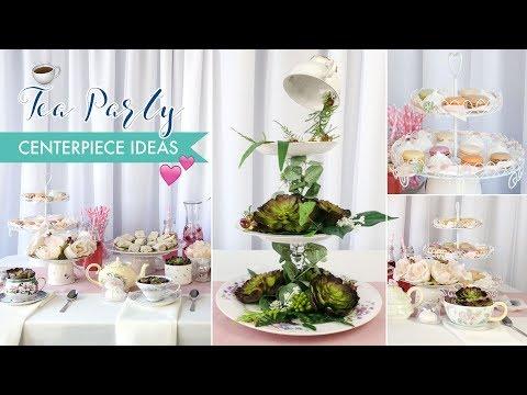 Bridal Shower Tea Party Centerpiece Ideas | BalsaCircle.com