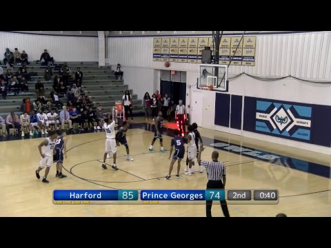 2018 MD JUCO MBB Quarterfinals #4 - #1 Harford vs. #8 Prince George's  (2/16/18)
