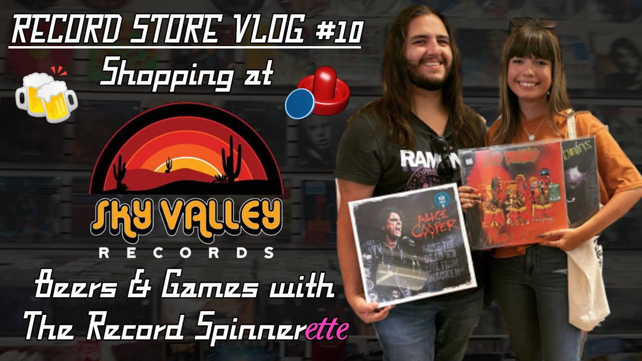 RECORD STORE VLOG #10 - Shopping at Sky Valley Records, Beers & Games with The Record Spinnerette