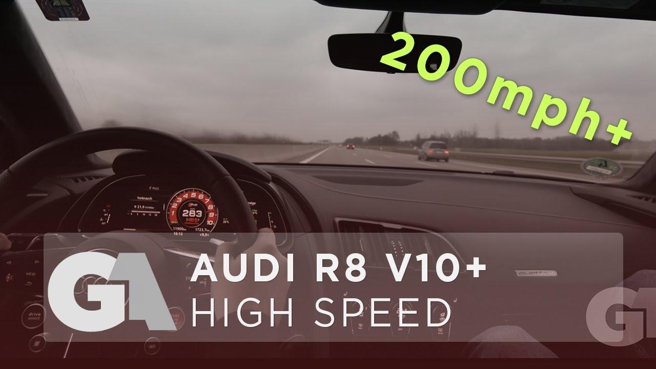 2017 AUDI R8 V10 PLUS 332 KMH - AUTOBAHN TOP SPEED RUN [4k] - **OVER ...