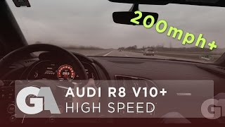2017 AUDI R8 V10 PLUS 332 KMH - AUTOBAHN TOP SPEED RUN [4k] - **OVER 200 MPH** - GA EXTRA