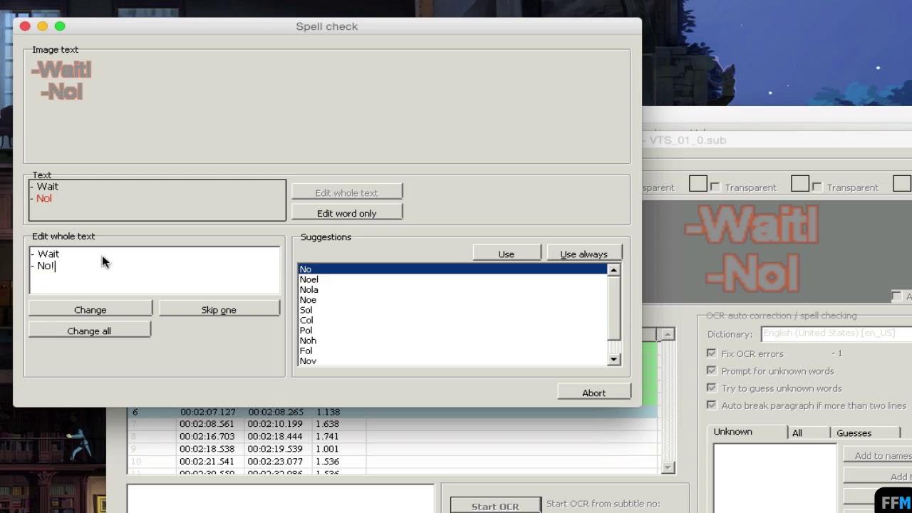 idx file to srt mac
