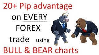 Get a 20 pip advantage on every Forex Trade using Bull & Bear trading Charts. STOP Giving pips away.