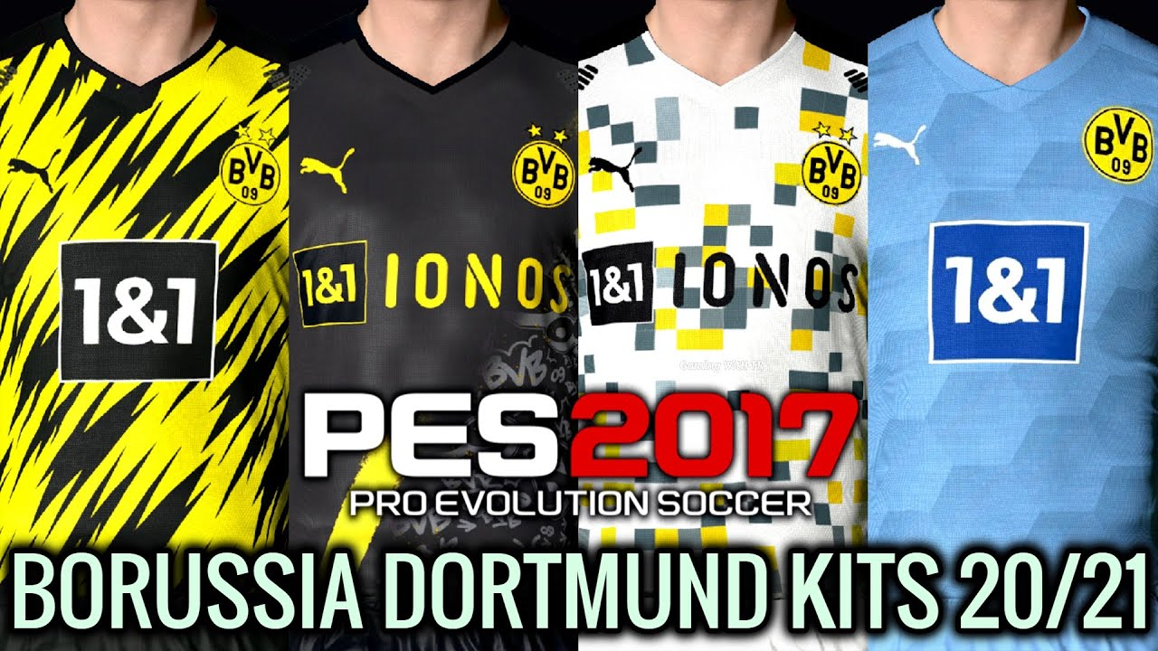 Pes 2017 Borussia Dortmund Kits 2020 2021 Unofficial Version Download Install Youtube