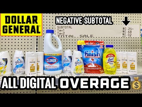 DOLLAR GENERAL | EASY OVERAGE Deals | New Digital Coupons | FREE MONEY | Paid $0.25 for 13 Items! 🔥🔥