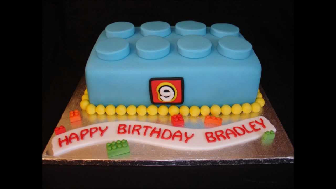Lego Block Brick Fondant Cake Youtube