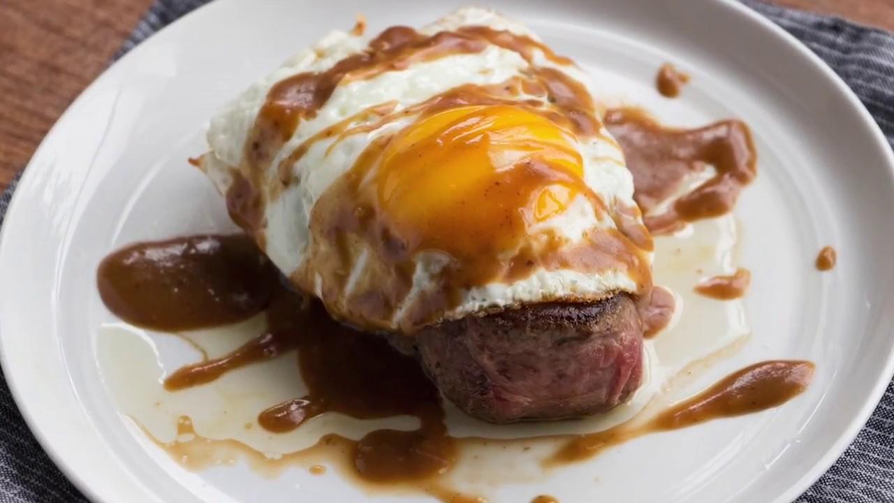 Steak & Fried Egg with Black Pepper Pan Gravy - BetterThanBouillon.com