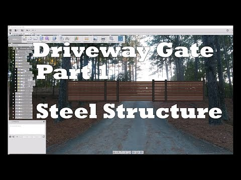 DIY Steel & Wood Cantilevered Driveway Gate - Part 1