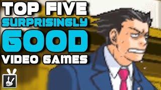 Top Five Surprisingly Good Video Games - rabbidluigi