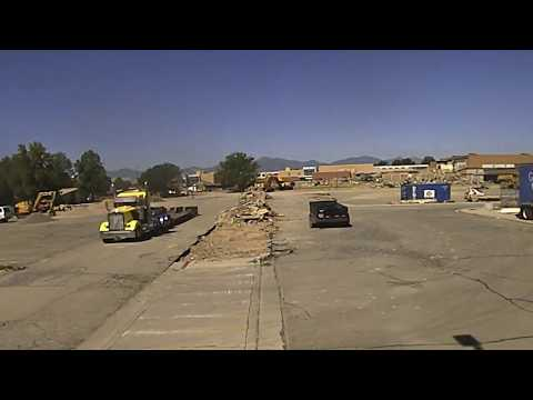 Time Lapse Video of the Old West Jordan Middle School Coming Down