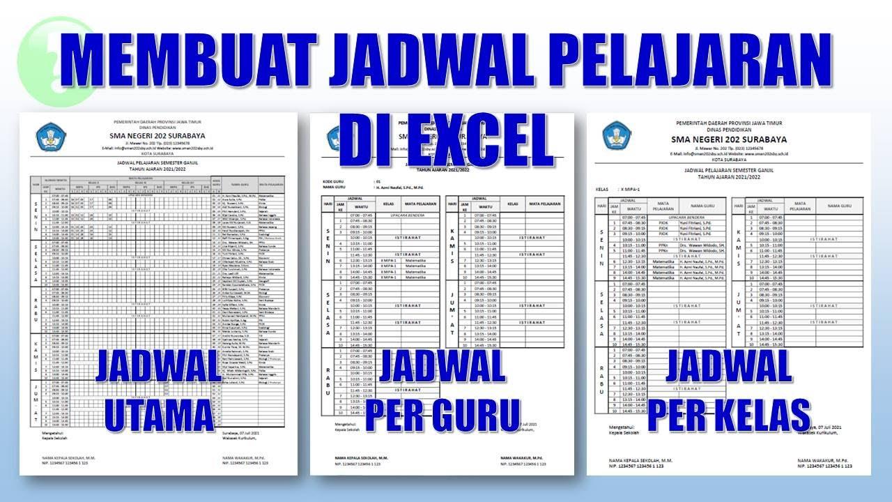 Cara Membuat Jadwal Pelajaran di Excel