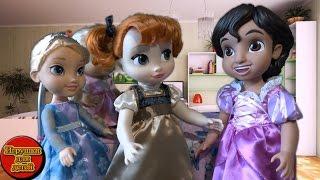 Анна Эльза мультик макияж для Алладина Игры для девочек Малышки играют