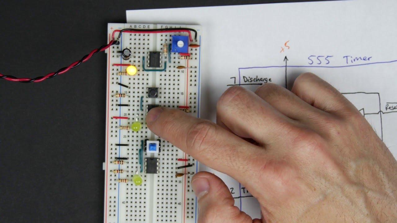 Bistable 555 - 8-bit computer clock - part 3 - YouTube