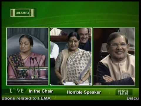 Sushma Swaraj's reply in Lok Sabha on 5th December 2012 on FDI in Multibrand retail: 05.12.2012