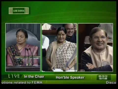 Sushma Swaraj's reply in Lok Sabha on 5th December 2012 on FDI in Multibrand retail: 05.12.2012