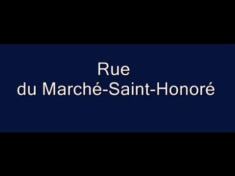 Rue du Marché Saint Honoré Paris Arrondissement  1er