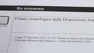 BIOTESTAMENTO - A San Salvo ora è possibile sottoscrivere il DAT
