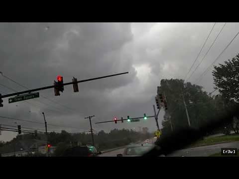 Summer Thunderstorm in Maryland - Lightning Strike Causes Power Flash