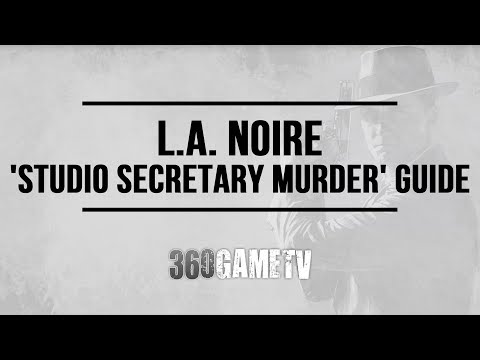 L.A. Noire - The Studio Secretary Murder - Case #14 - 5 Stars Walkthrough (Remaster Version)
