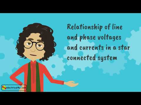 Relationship of Line and Phase Voltages and Currents in a Star Connected System