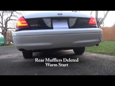 '01 Ford P71 Police Interceptor stock vs muffler delete exhaust Crown Vic
