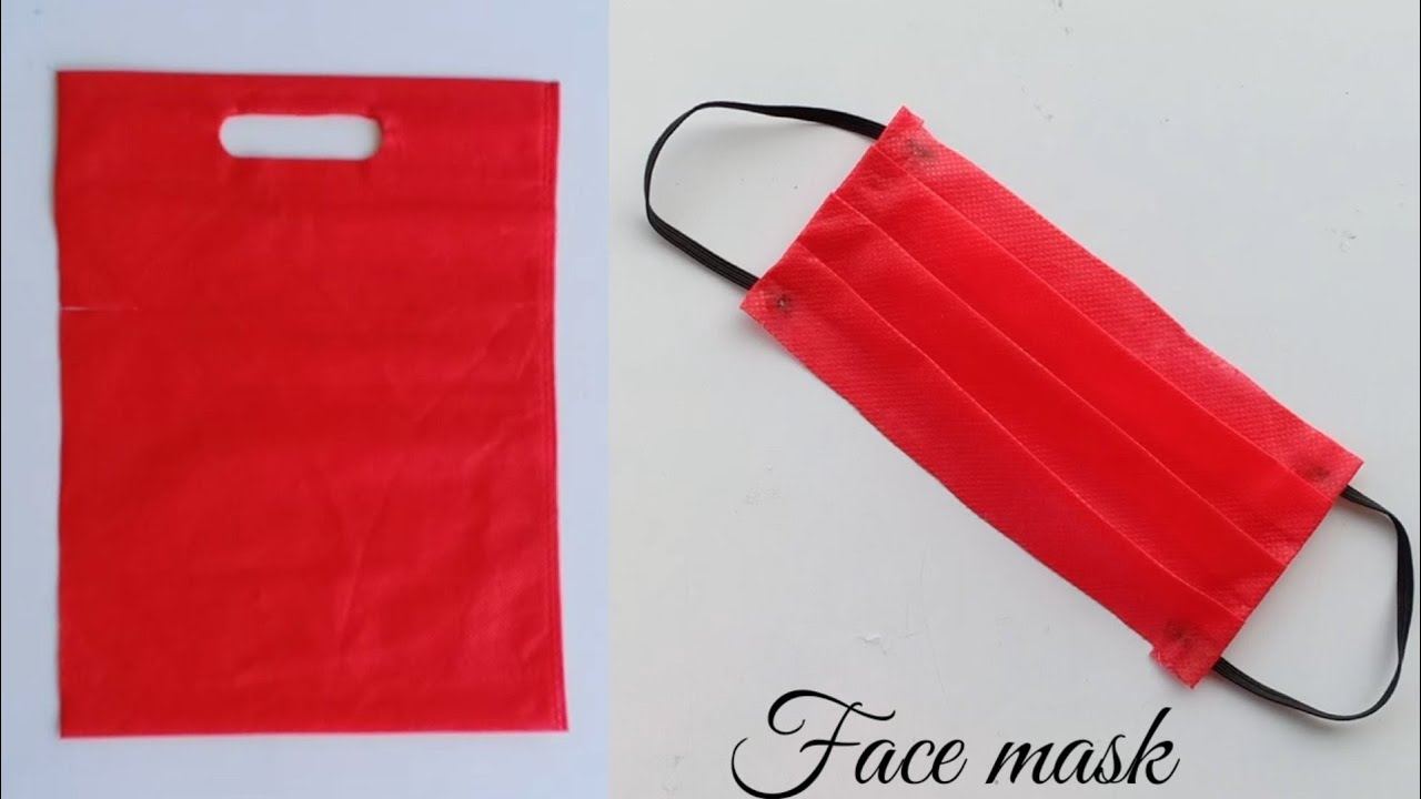 2 Easy Face Masks From Cloth Bag How To Make Face Mask Easily At Home How To Make Mask At Home Youtube