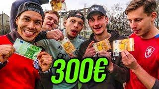 300 € LATTENSCHIEßEN FUßBALL CHALLENGE !