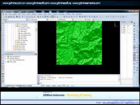3DMINE  - MINING SOFTWARE TUTORIAL COAL DATABASE & MODELLING