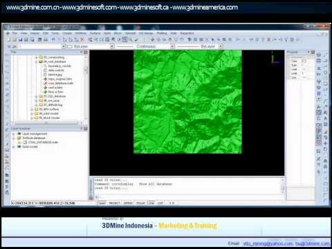 3DMINE  - MINING SOFTWARE TUTORIAL COAL DATABASE & MODELLING