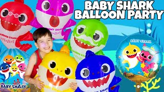 BABY SHARK BALLOON PARTY 2019 Inflating our Baby Shark Balloons