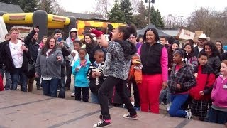 Sister Serves Her Brother In a dance Battle @ Cinco Del Mayo WestSide Saint Paul!!!