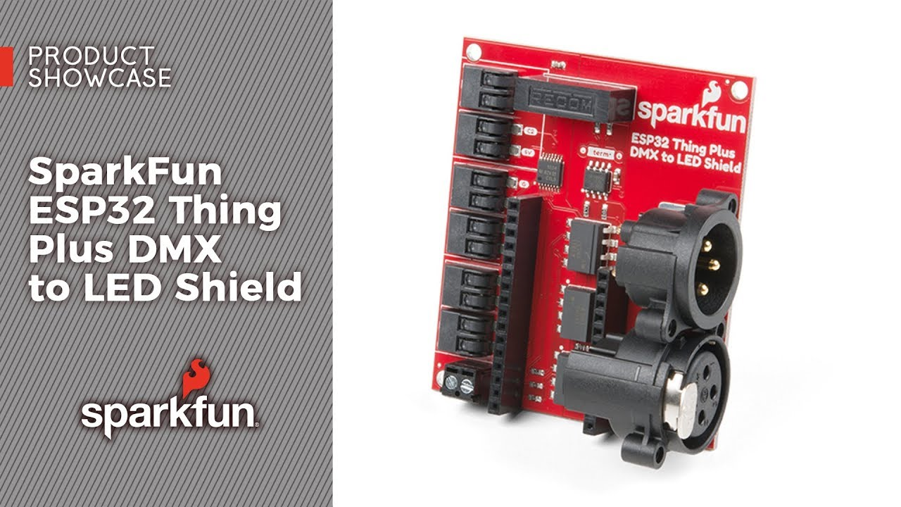 sparkfun esp32 dmx to led shield [ 1280 x 720 Pixel ]