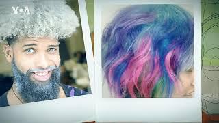 Цветные волосы как модный аксессуар