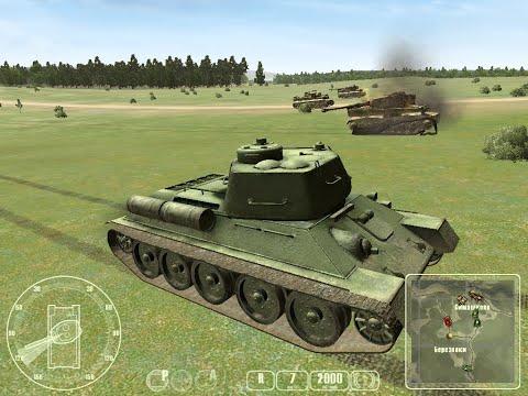 """T-34 против «Тигра» ч.5 - """"T-34 Vs Tiger Tank"""" Прохождение игры: ч.5 Встречный бой"""