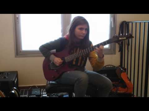 14 year old girl playing guitar cover Van Halen - Beat It Solo - Tina S 14 year old girl amazing