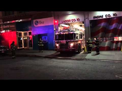 FDNY Engine 10 and Ladder 10 Responding