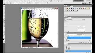 Как сделать сползающие капельки на Photoshop CS5 видеоурок