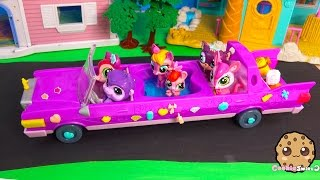 Bobblehead Littlest Pet Shop Ride In LPS LIMO Limousine Car With Hot Tub - Cookieswirlc Toy Video