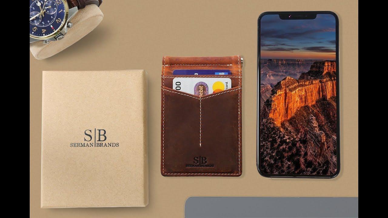 bebaf4c519e SERMAN BRANDS Rogue - RFID Blocking Slim Bifold Minimalist Front Pocket  Wallets for Men Money Clip