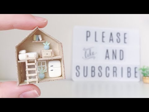 DIY Tiny home - Mini House Clay tutorial