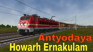 Howrah Junction to Ernakulam Antyodaya express Hauled with Santragachi WAP4 MSTS Open Rails