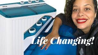 My Life Changing Portable Washing Machine!! (Della)