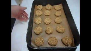 tahinli susamli biskuvi