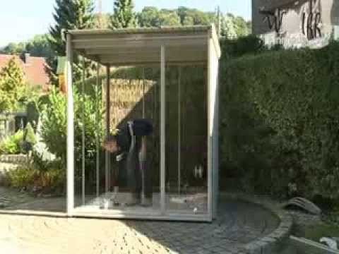 aufbau eines metall gartenhaus aus der wolff comfort line im zeitraffer youtube. Black Bedroom Furniture Sets. Home Design Ideas