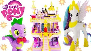 My Little Pony Canterlot Castle Playset with Princess Celestia and Spike