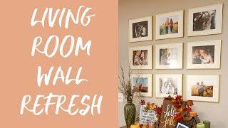 Living Room Wall Refresh | Grid Photo Wall thumbnail
