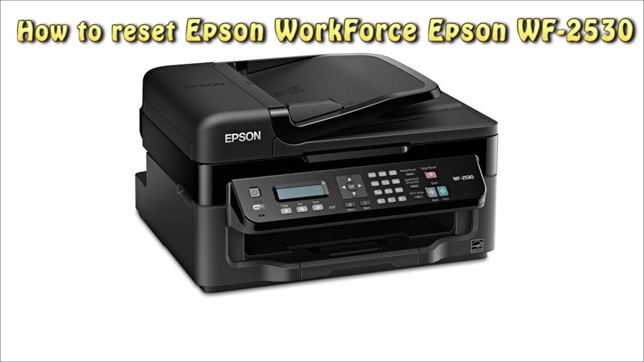 Reset Epson WF 2530 Waste Ink Pad Counter