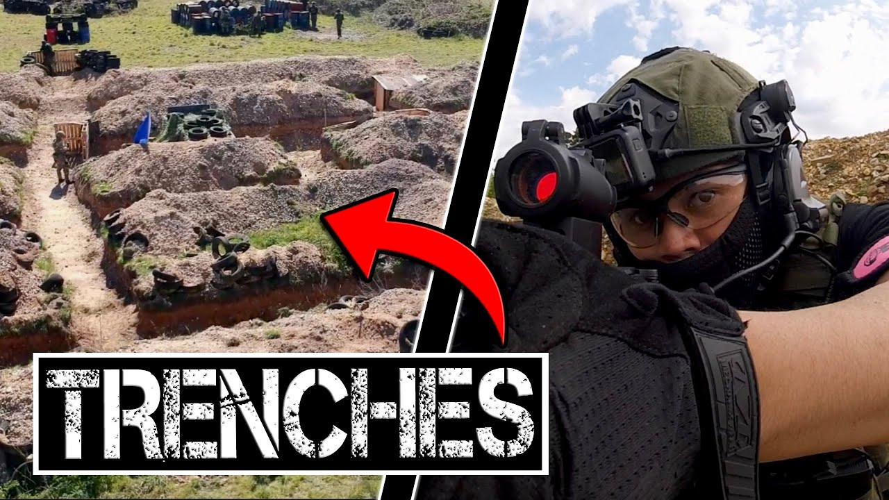 Airsoft War in the TRENCHES is INTENSE!   Gunman Airsoft Tuddenham