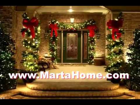 exterior ideas christmas front door decorating ideas - Front Door Christmas Decorations Ideas