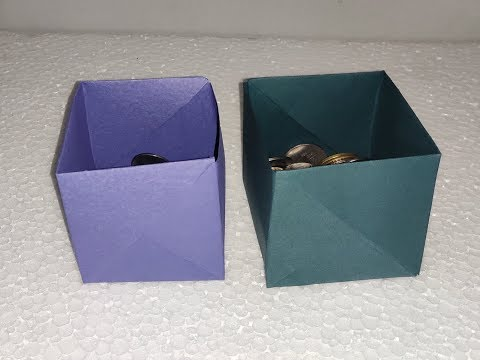Paper art and craft, paper work, paper art, craft ideas, craft with paper, Box with paper